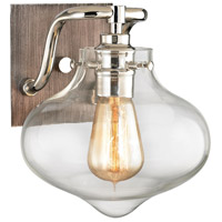 ELK 31940/1 Kelsey 1 Light 9 inch Polished Nickel with Weathered Zinc Vanity Light Wall Light