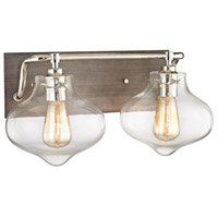 ELK 31941/2 Kelsey 2 Light 17 inch Polished Nickel with Weathered Zinc Vanity Light Wall Light