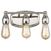 Vernon 3 Light 12 inch Polished Nickel Vanity Wall Light