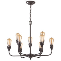 Elk Lighting Vernon 9 Light Chandelier in Oil Rubbed Bronze 31983/6+3