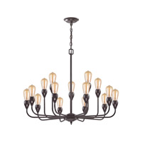 Vernon 15 Light 31 inch Oil Rubbed Bronze Chandelier Ceiling Light