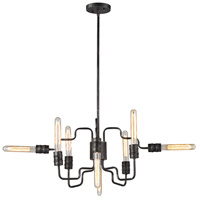 Transit 8 Light 24 inch Silvered Graphite Chandelier Ceiling Light