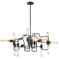 Transit 12 Light 29 inch Silvered Graphite Chandelier Ceiling Light