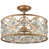 Armand 4 Light 17 inch Matte Gold Semi Flush Mount Ceiling Light