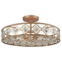 Armand 8 Light 25 inch Matte Gold Semi Flush Mount Ceiling Light