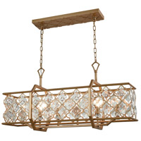 Armand 6 Light 35 inch Matte Gold Chandelier Ceiling Light
