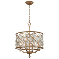 Armand 4 Light 17 inch Matte Gold Chandelier Ceiling Light