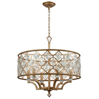 Armand 6 Light 24 inch Matte Gold Chandelier Ceiling Light