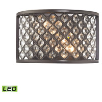 Genevieve LED 10 inch Oil Rubbed Bronze Wall Sconce Wall Light