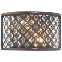 Genevieve 2 Light 10 inch Oil Rubbed Bronze Wall Sconce Wall Light in Standard