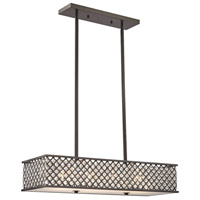 Genevieve 4 Light 31 inch Oil Rubbed Bronze Chandelier Ceiling Light