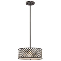 Genevieve 3 Light 16 inch Oil Rubbed Bronze Chandelier Ceiling Light