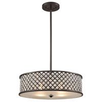 Genevieve 4 Light 21 inch Oil Rubbed Bronze Chandelier Ceiling Light