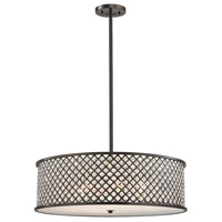 Genevieve 6 Light 29 inch Oil Rubbed Bronze Chandelier Ceiling Light