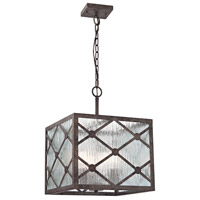 Radley 3 Light 14 inch Malted Rust Pendant Ceiling Light