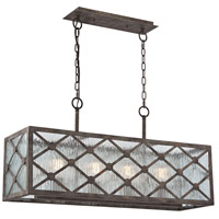 Radley 4 Light 10 inch Malted Rust Chandelier Ceiling Light