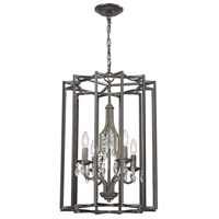Belgique 4 Light 17 inch Malted Rust with Oil Rubbed Bronze Chandelier Ceiling Light