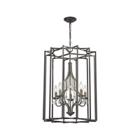 Belgique 5 Light 21 inch Oil Rubbed Bronze,Malted Rust Chandelier Ceiling Light