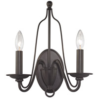 Monroe 2 Light 13 inch Oil Rubbed Bronze Wall Sconce Wall Light