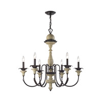 Elk Lighting Channery Point 6 Light Chandelier in Oil Rubbed Bronze,Aged Cream 32220/6
