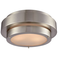 Layers 3 Light 16 inch Satin Nickel Flush Mount Ceiling Light