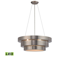 Layers LED 22 inch Brushed Stainless Chandelier Ceiling Light