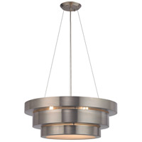 Layers 3 Light 22 inch Brushed Stainless Chandelier Ceiling Light in Standard