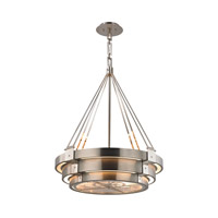 Chronology 8 Light 29 inch Brushed Stainless,Polished Stainless Chandelier Ceiling Light