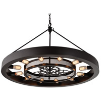 Elk Lighting Chronology 12 Light Chandelier in Oil Rubbed Bronze 32237/12