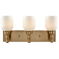 Baxter 3 Light 20 inch Satin Brass Vanity Wall Light