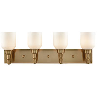Baxter 4 Light 28 inch Satin Brass Vanity Wall Light