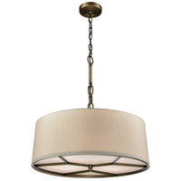 Baxter 4 Light 21 inch Brushed Antique Brass Chandelier Ceiling Light