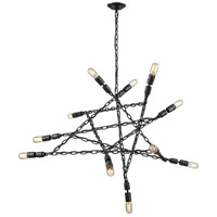 ELK 32285/11 Entangled 11 Light 50 inch Silvered Graphite Chandelier Ceiling Light