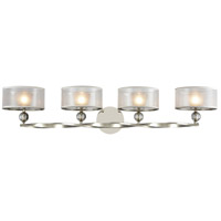 Corisande 4 Light 43 inch Polished Nickel Vanity Wall Light
