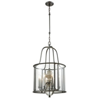 Neo Classica 8 Light 20 inch Aged Black Nickel with Weathered Birch Chandelier Ceiling Light
