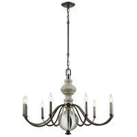 Neo Classica 9 Light 35 inch Aged Black Nickel with Weathered Birch Chandelier Ceiling Light
