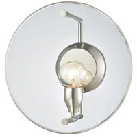 Disco 1 Light 12 inch Polished Nickel Wall Sconce Wall Light