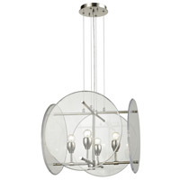Disco 4 Light 19 inch Polished Nickel Chandelier Ceiling Light