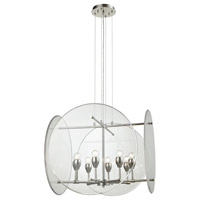 Disco 8 Light 25 inch Polished Nickel Chandelier Ceiling Light