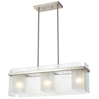 ELK 32329/3 Vellis 3 Light 30 inch Satin Nickel Island Light Ceiling Light