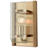 Vindalia 1 Light 6 inch Satin Brass with Wood Slats Wall Sconce Wall Light