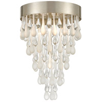 Morning Frost 4 Light 13 inch Silver Leaf Flush Mount Ceiling Light