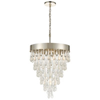 Morning Frost 5 Light 18 inch Silver Leaf Pendant Ceiling Light