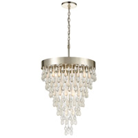 Morning Frost 7 Light 20 inch Silver Leaf Pendant Ceiling Light