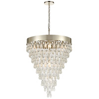 Morning Frost 10 Light 26 inch Silver Leaf Pendant Ceiling Light