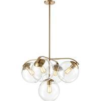 ELK 32353/5 Collective 5 Light 28 inch Satin Brass Chandelier Ceiling Light