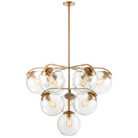 Collective 10 Light 36 inch Satin Brass Chandelier Ceiling Light