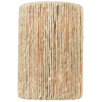 ELK 32410/2 Abaca 2 Light 9 inch Satin Brass with Abaca Rope Sconce Wall Light