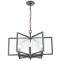 ELK 32421/6 Inversion 6 Light 25 inch Charcoal Pendant Ceiling Light