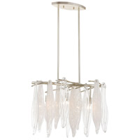 ELK Silver Leaf Glass Chandeliers